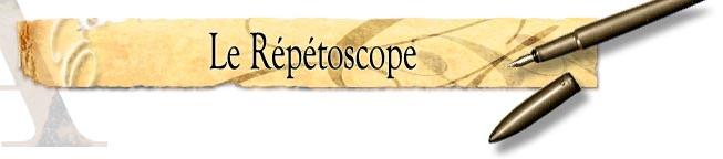 Le répétoscope, un remède aux bégaiements littéraires