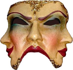 La confiance en soi impossible caché derrière un masque.